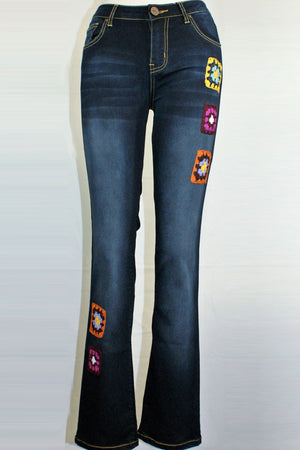 Angela Jeans with Squares