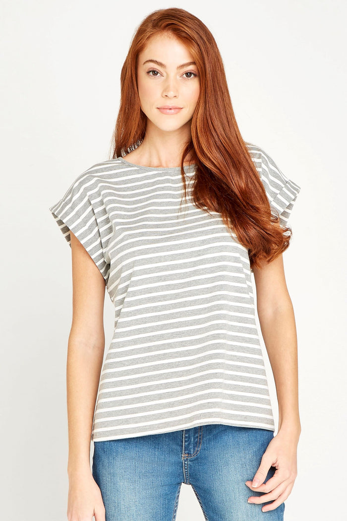 Grey Striped Tee