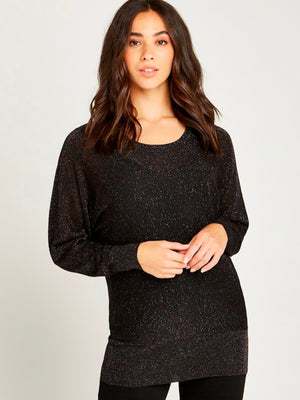 Multicolor Fleck Batwing Sweater
