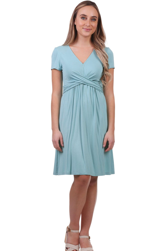 Knotted Bust Fit and Flare Dress