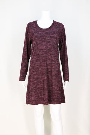 Cozy Cover Stitch Knit Dress