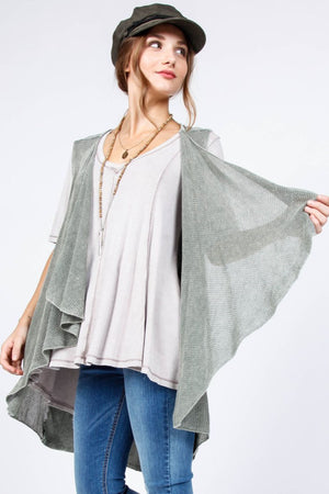 Granada Sleeveless Cardigan