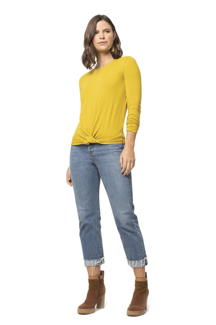 Synergy Knot Front  Knit Top