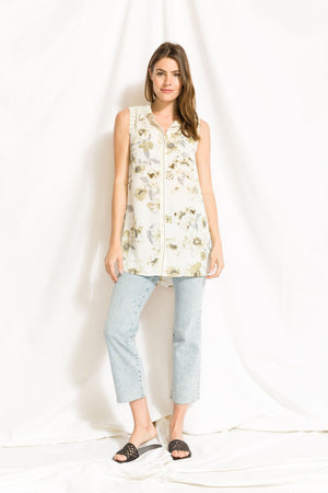 Top Sleeveless Floral