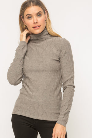 Slim Pullover Turtleneck Sweater
