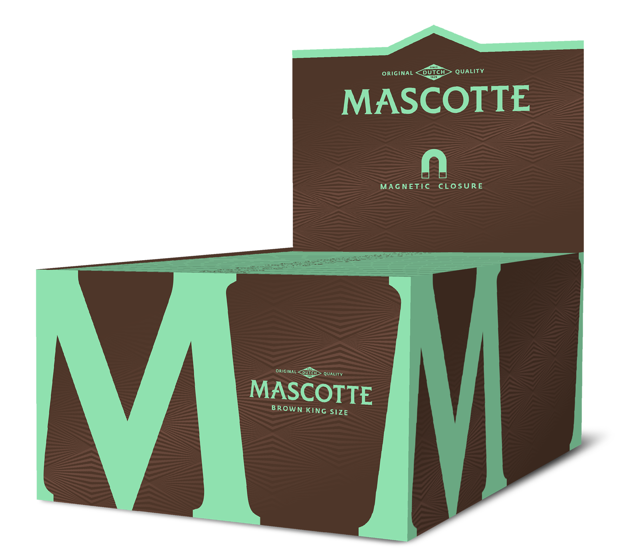 Mascotte Brown King Size (with Magnet) - 34 vloei