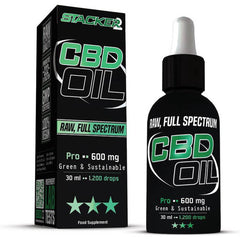 Stacker 2 CBD Pro - CBD Olie met 2% CBD - Raw | Full Spectrum - 30ml - 600mg CBD - flesje en doos