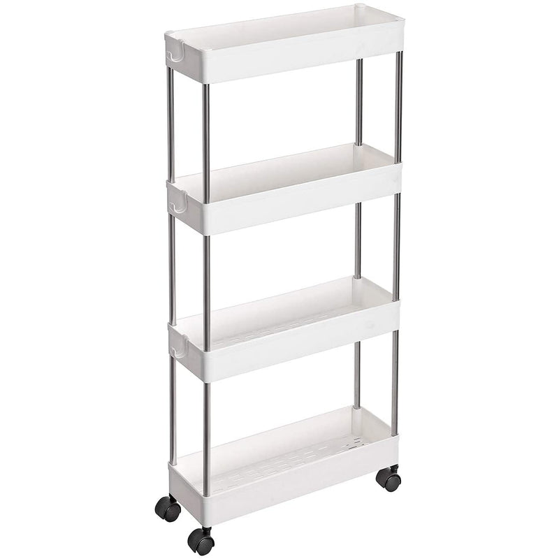 Nancy's Ada Trolley - Badkamertrolley - Keukentrolley - Wit - 40 x 12.5 x 86