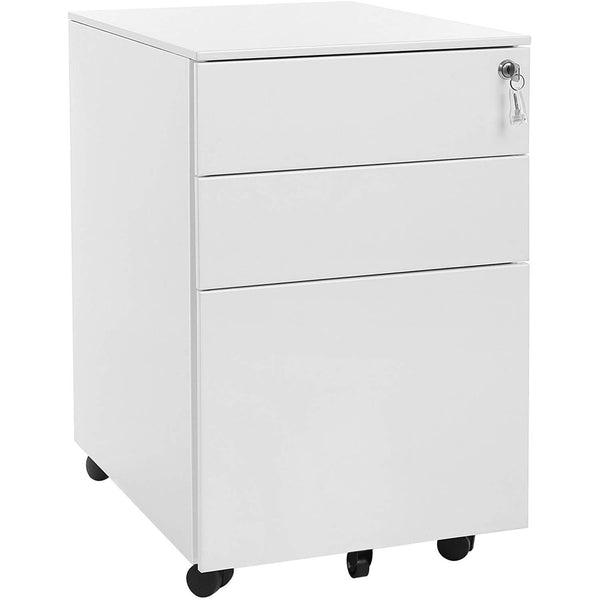 Nancy's Brookdale Ladeblok Wit - Ladeblok Bureau - Rolcontainer - Ladeblokken 52 x 39 x 60 cm