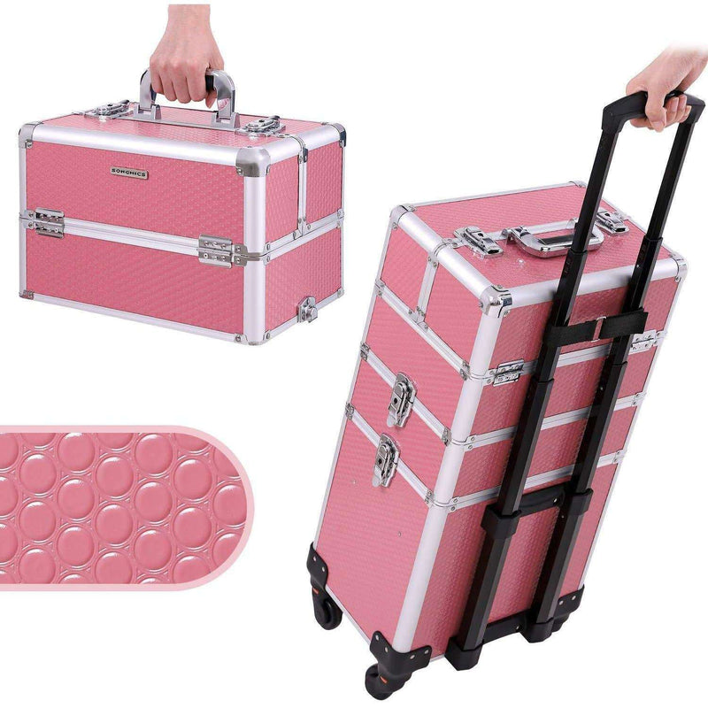 Nancy's  XXL PRO 3 in 1 Make-Up Trolley - Koffer voor Cosmetica  - Met 360 Graden Wielen & Handgreep - Cosmetica koffer