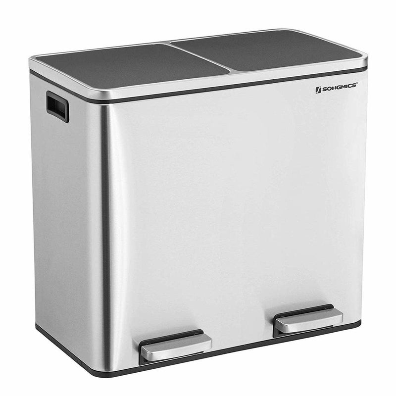 Nancy's Dubbele Afvalbak RVS - Pedaalemmer - 2x 24L - Nancy HomeStore