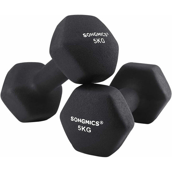 Nancy's Dumbbells Set - 5 kg per Dumbell - Zwarte Dumbells - Nancy HomeStore