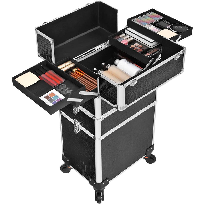 Nancy's XXL PRO Cosmetica Aluminium Trolley - Make Up Koffer - Make Up Organizer