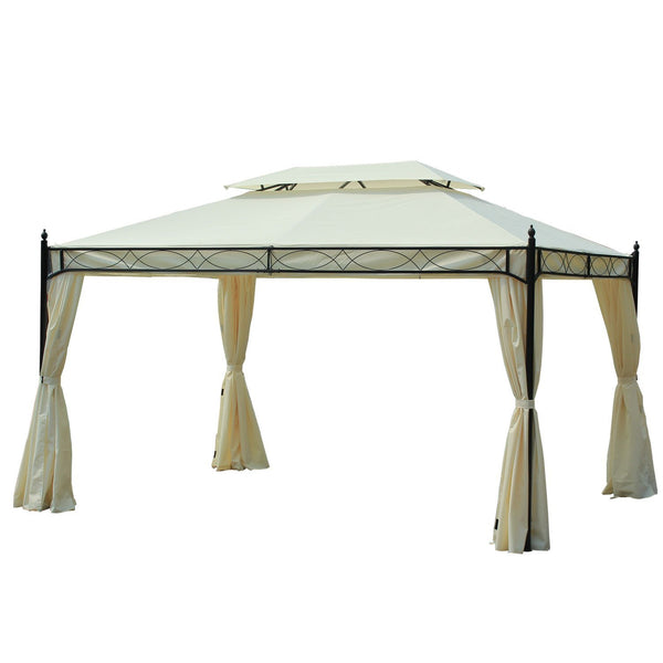 Nancy's Grand Haven Paviljoen - Partytent - Luxe - Zijwanden - Waterafstotend - Staal - Polyester - 3x4 m -