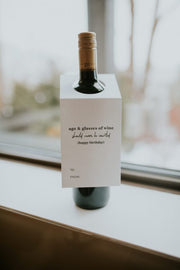 Wine bottle tag - save for special occasions