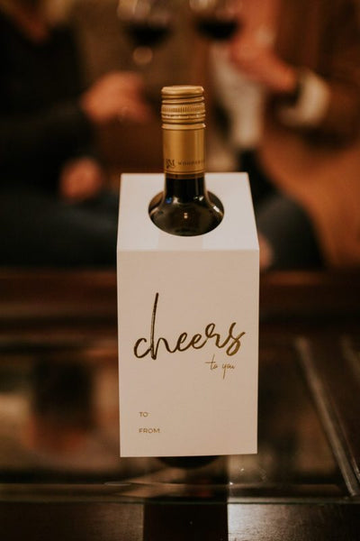 Wine bottle tag - Cheers to you