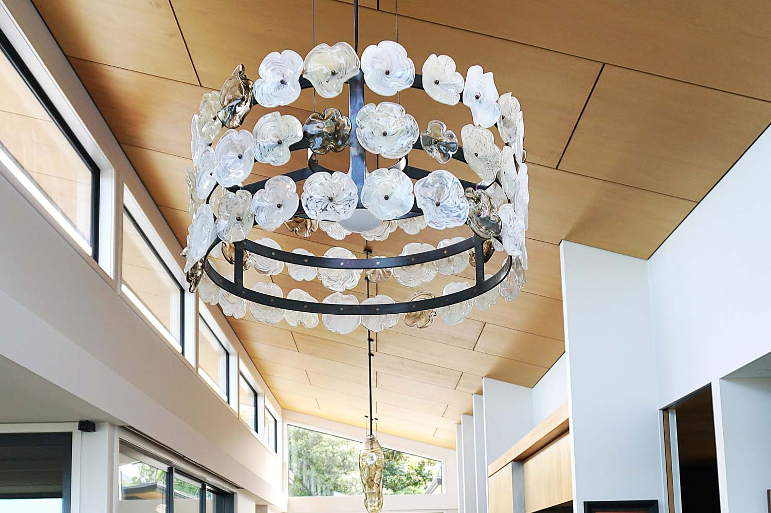 Lynden Over Clematis Chandelier Lava Glass