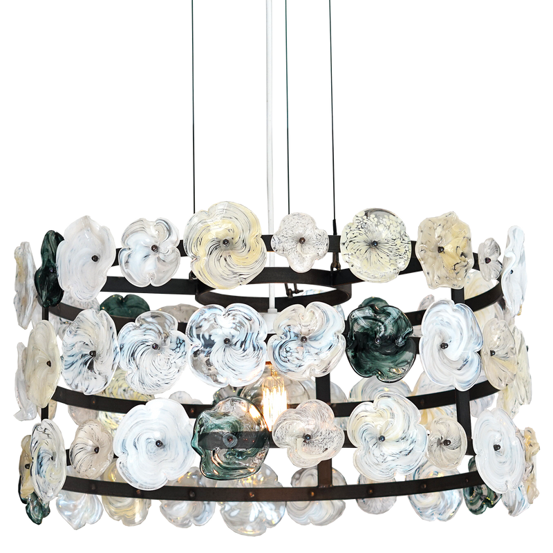 Clematis Chandelier Steel Grey