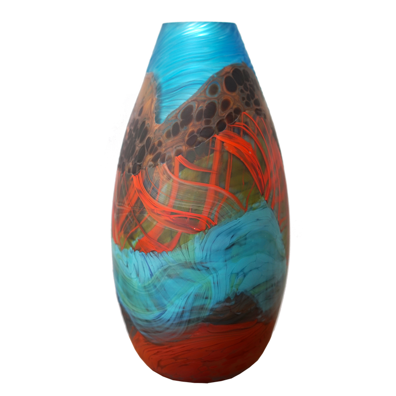 Rainbow Mountain Teardrop Large