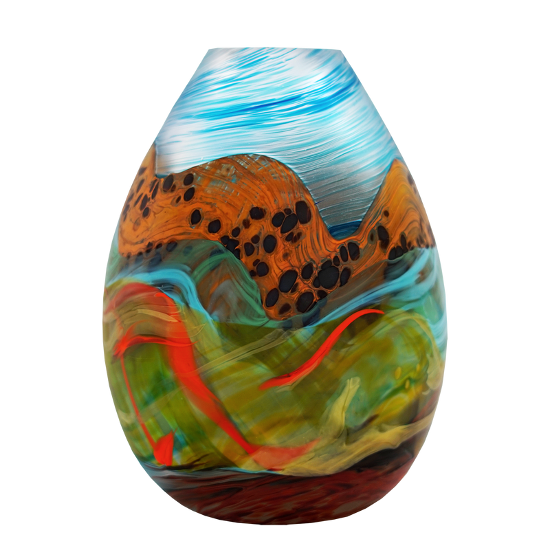Rainbow Mountain Teardrop Medium