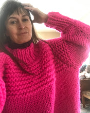 Load image into Gallery viewer, Hot Pink Over Sized Wool Sweater