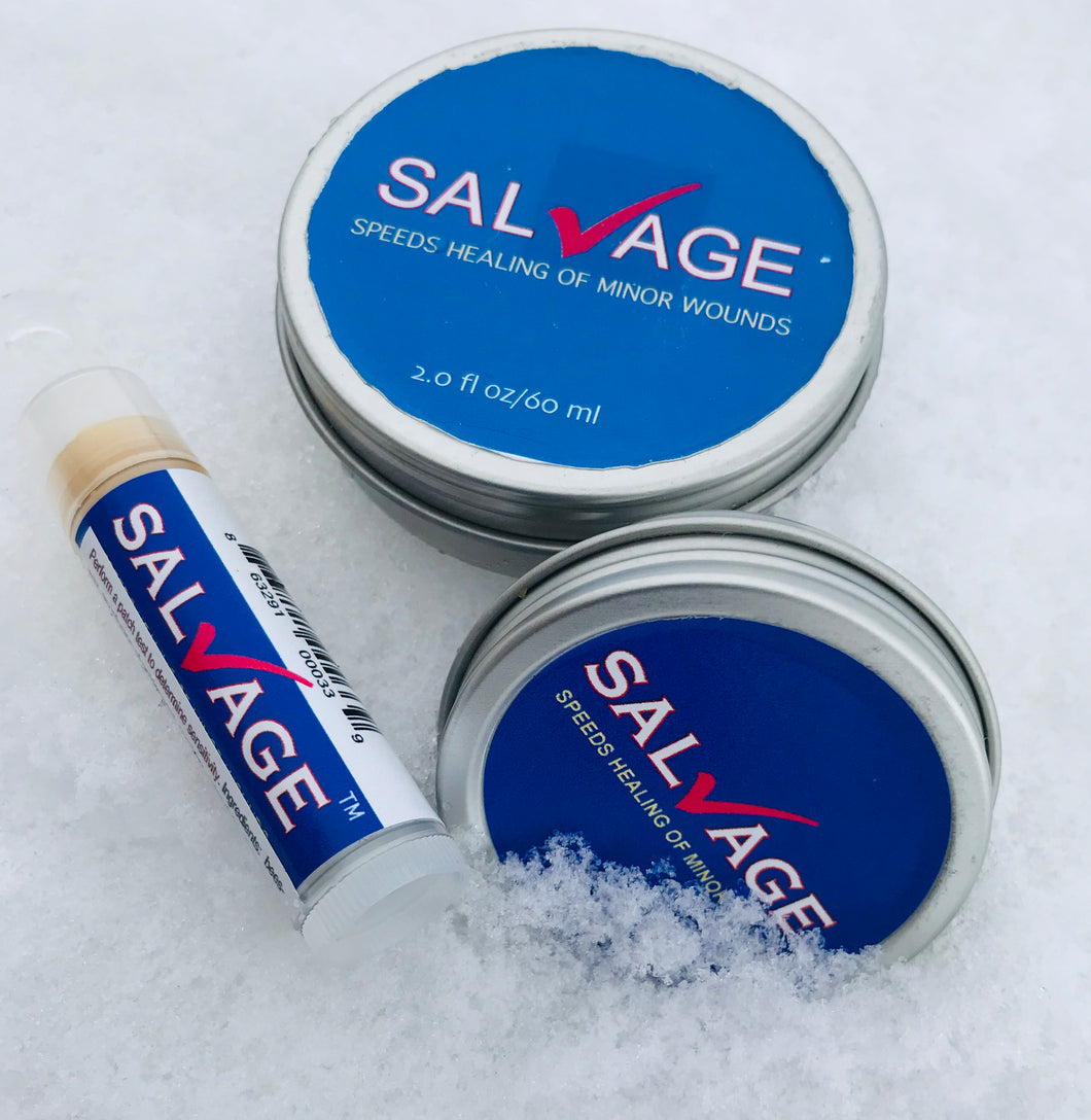 3 sizes of Salvage healing salve