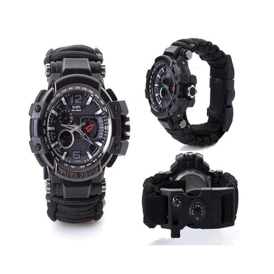 Outdoor Multi Functional Waterproof Military Tactical Paracord Watch Bracelet - Houzland