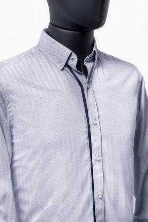 CAMISA CASUAL AZUL REGULAR FIT - Uwamarket