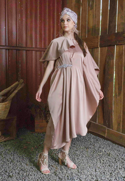 Leila Drape Kaftan Dress