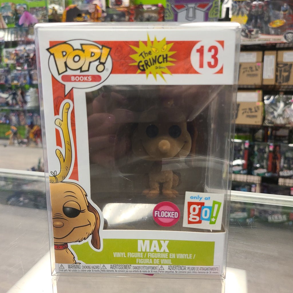 Funko Pop! Books The Grinch Max Flocked Go! Exclusive