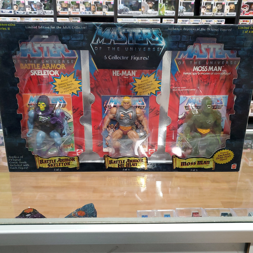 MASTERS OF THE UNIVERSE COMMEMORATIVE SERIES 2 5 PACK SET