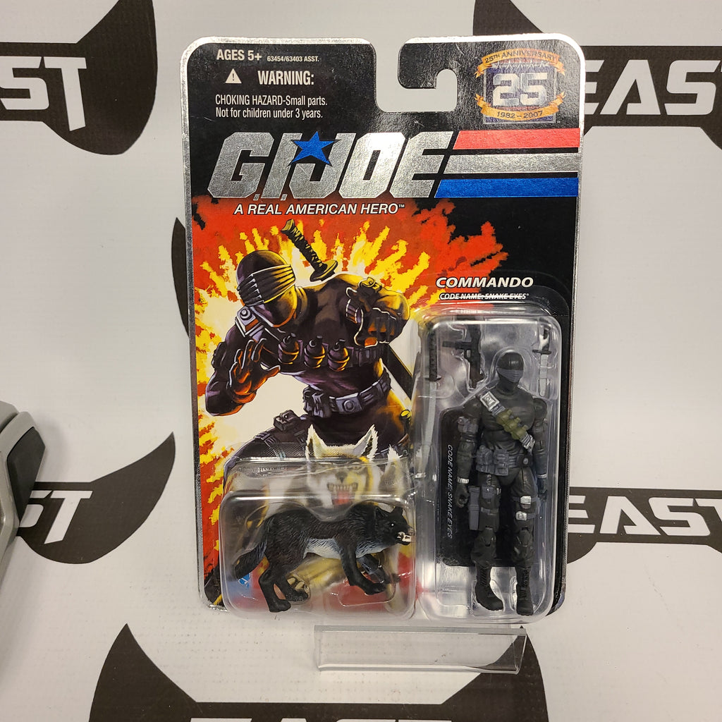 Hasbro G.I Joe 25th Anniversary Snake Eyes (Black Timber Variant)