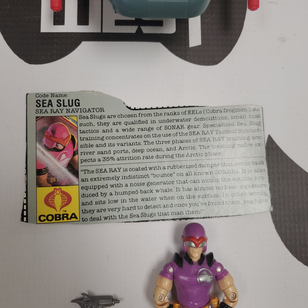Hasbro G.I. Joe Sea Ray with Sea Slug