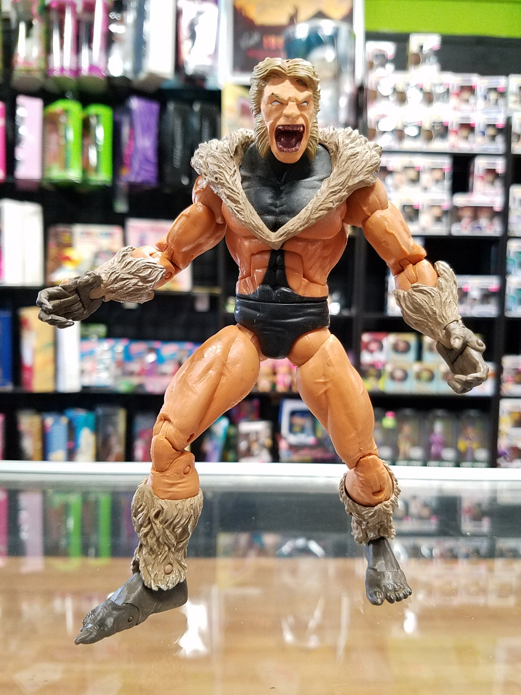 ToyBiz Marvel Legends Face Off Sabretooth