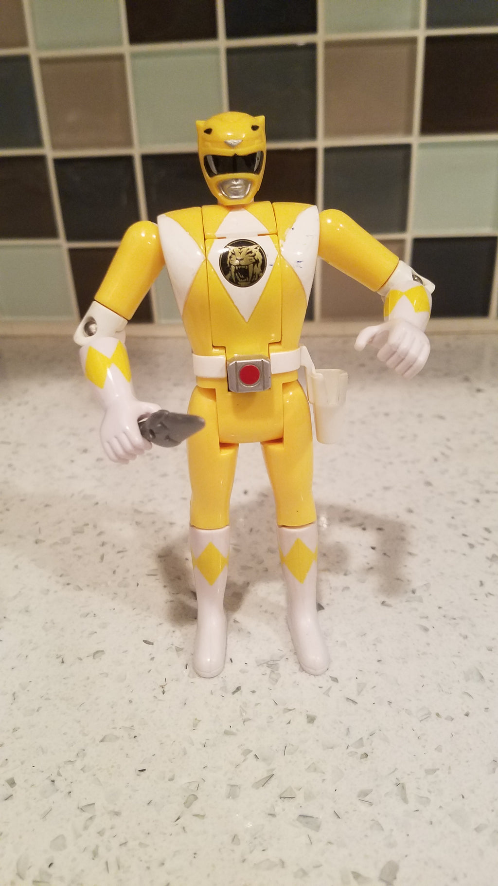 BANDAI Mighty Morphin Power Ranger, Auto Morphin Yellow Ranger (1993)