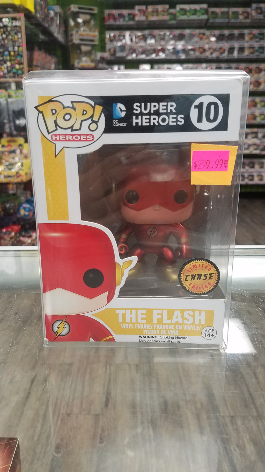 FUNKO POP! Heroes #10, DC Comics Superheroes, The Flash (Chase, Limited Edition)