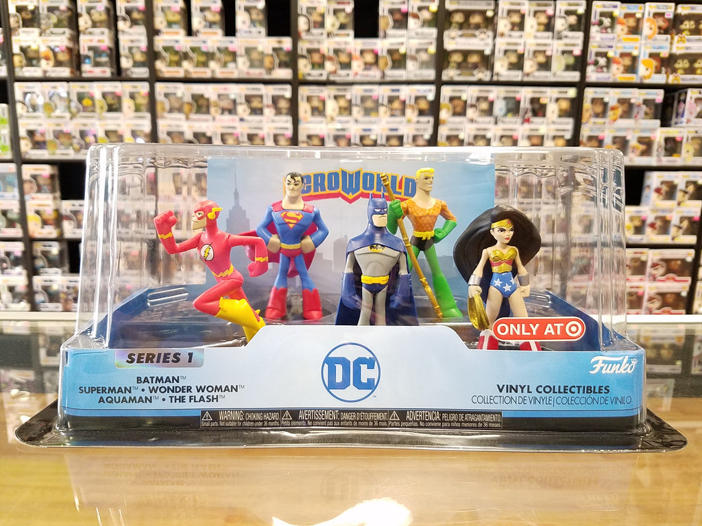 Funko Hero World Series 1 DC 5 Pack Batman Superman Wonder Woman Aquaman The Flash Target Exclusive