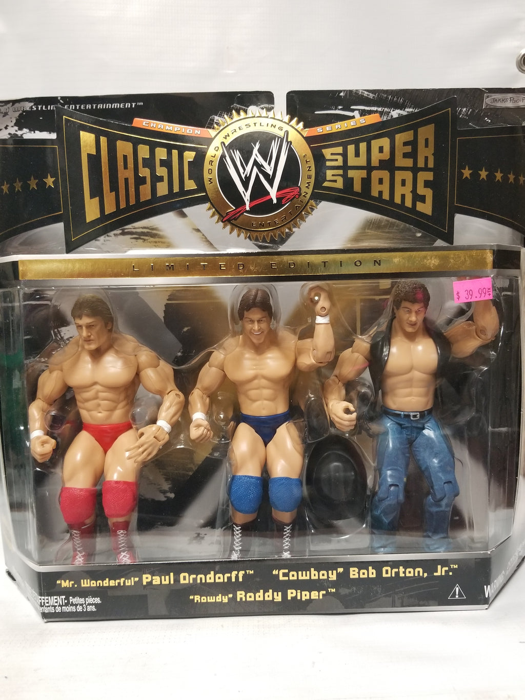 Jakks Pacific WWE Classics Superstars Paul Orndorff Rowdy Roddy Piper & Bob Orton, Jr