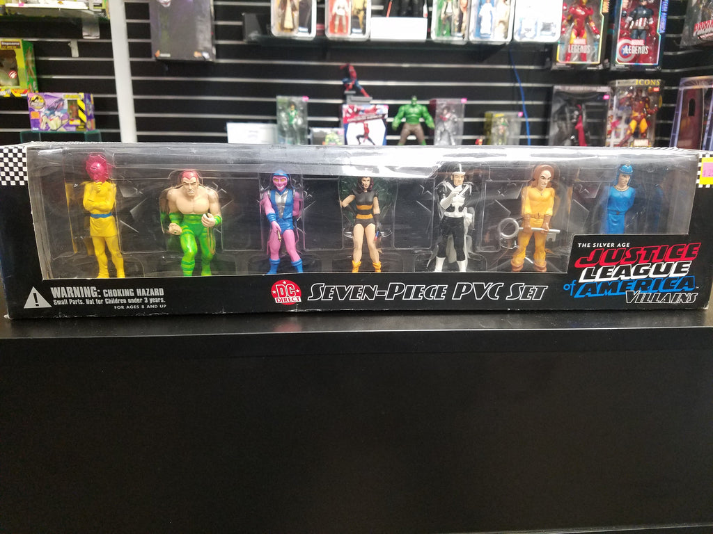 DC Direct The Silver Age Justice League of America Villains 7 piece PVC set