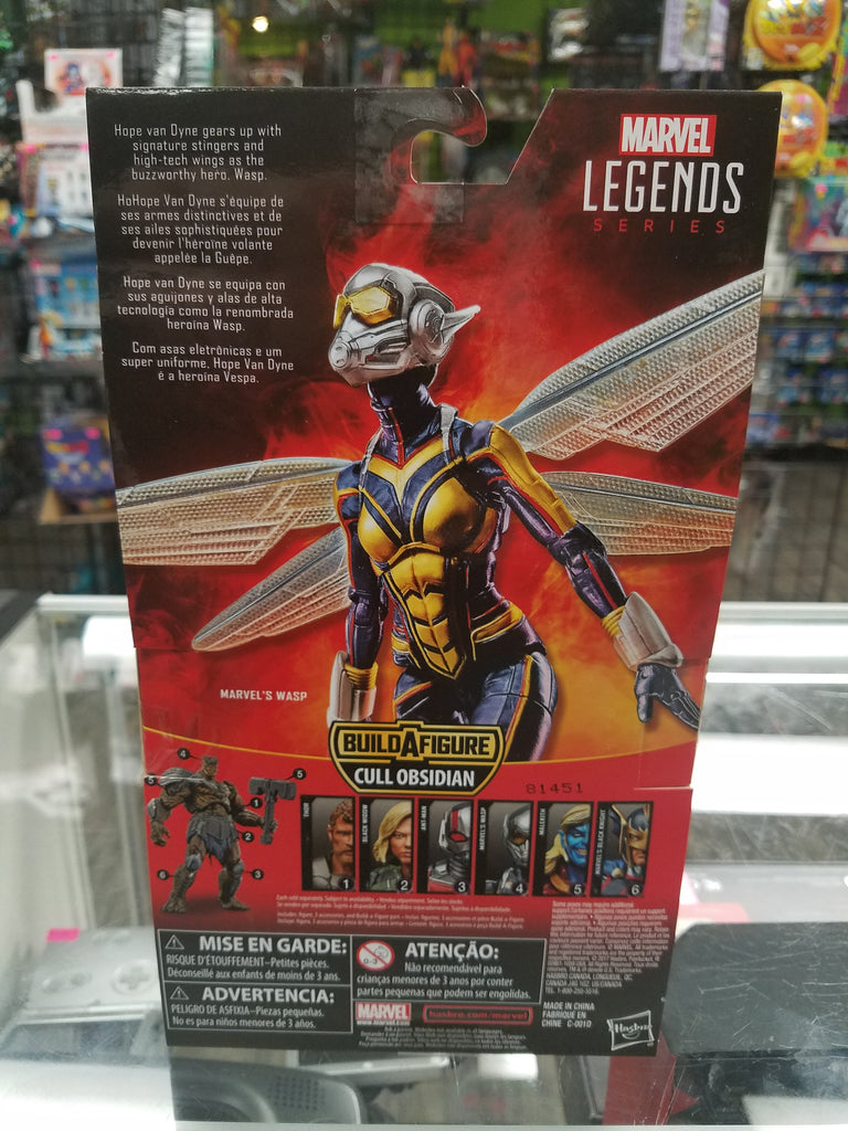 Marvel Legends Ant-Man and the Wasp Cull Obsidian Series Wasp