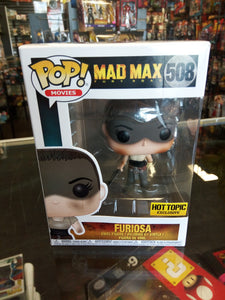 Funko pop Movies Mad Max Fury Road Furiosa #508 Hot Topic Exclusive
