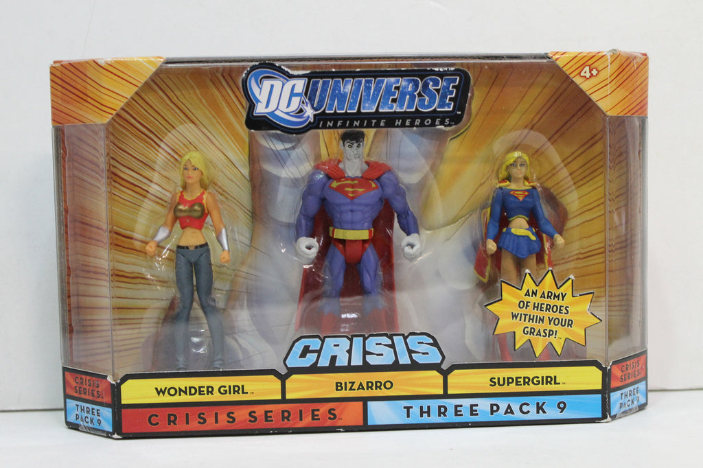 DC Universe Infinite Crisis Three Pack 9 Wonder Girl Bizarro Supergirl