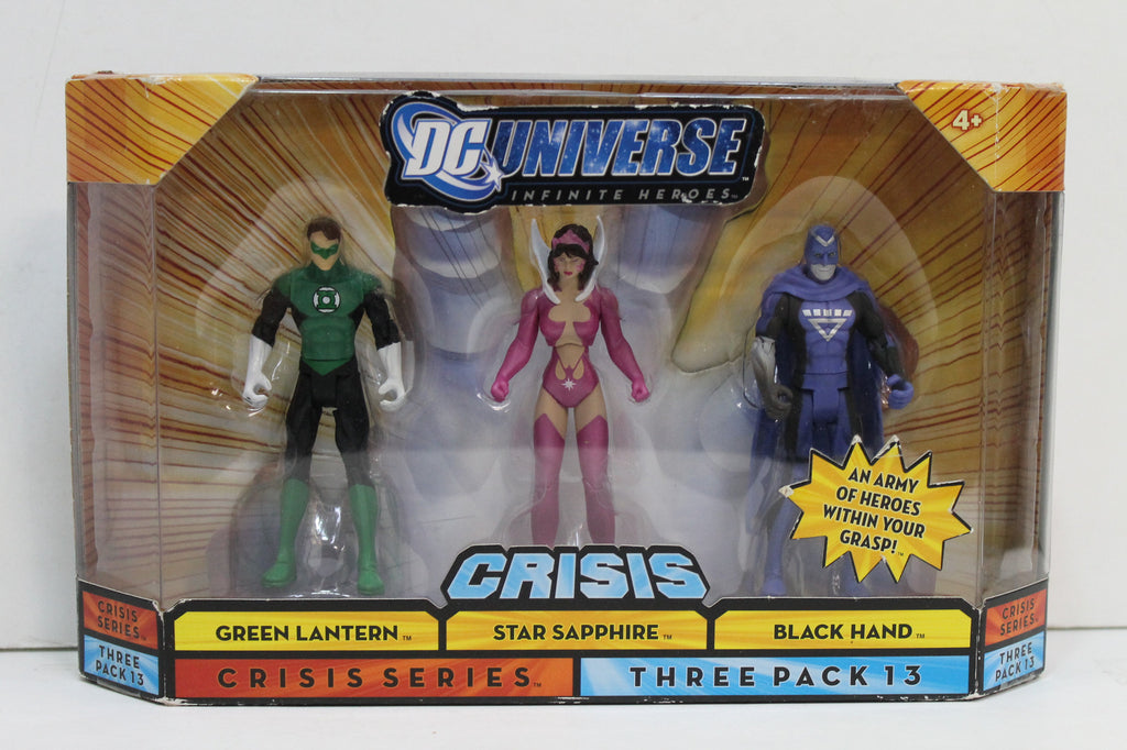 DC Universe Infinite Heroes Crisis Three Pack 13 Green Lantern Star Sapphire Black Hand
