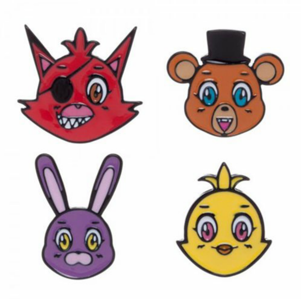 Five Nights At Freddy's Lapel Pin 4 Pack