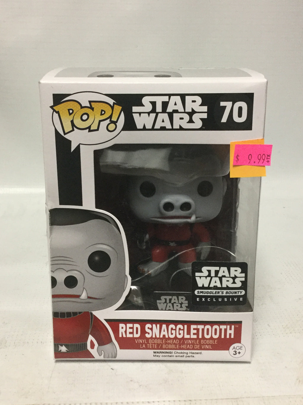Funko POP! Star Wars 70 Red Snaggletooth Star Wars Smuggler's Bounty Exclusive