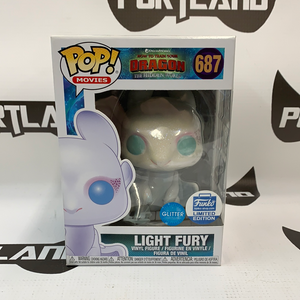 Funko POP! Movies How To Train Your Dragon The Hidden World Light Fury #687 Glitter Funko Shop LE