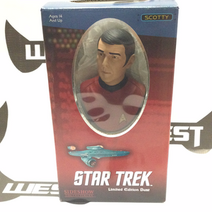 SIDESHOW COLLECTIBLES Star Trek Limited Edition Bust, Scotty 1095/5000