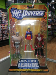 Mattel DC Universe Justice League Unlimited Warlord, Supergirl & Deimos