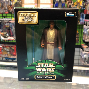 Hasbro Kenner Star Wars The Power of the Force Episode 1 Sneak Preview Mace Windu Mail Away