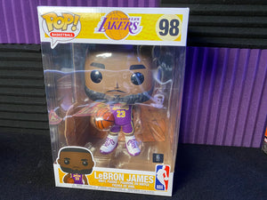"Funko POP! NBA Los Angeles Lakers 10"" Lebron James Purple Jersey"